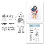 Darling Bouquet Clear Stamp Set from Delightful Darlings Collection by Mayline Jung