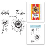Hello Sunflower Clear Stamp Set from Cardmaker Stamp Collection