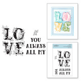 Love Block Clear Stamp Set from Cardmaker Stamp Collection