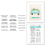 Sunday Drive All-Occasion Sentiments Clear Stamp Set from Liberty Collection
