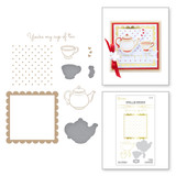 Cup of Kindness Glimmer Hot Foil Plate & Die Set from Sweet Cardlets II Collection by Becca Feeken
