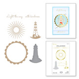 Shine Your Light Glimmer Hot Foil Plate & Die Set from Sweet Cardlets II Collection by Becca Feeken