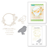 A Little Birdie Glimmer Hot Foil Plate & Die Set from Sweet Cardlets II Collection by Becca Feeken