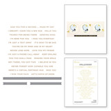 Mini Sincere Sentiments Glimmer Hot Foil Plate & Die Set from Truly Yours Collection