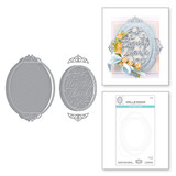 Heartfelt Thanks Vignette Etched Dies from Beautiful Sentiment Vignettes Collection by Becca Feeken