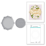 Happy Anniversary Vignette Etched Dies from Beautiful Sentiment Vignettes Collection by Becca Feeken
