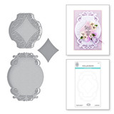 Romantic Chargeour Etched Dies from Beautiful Sentiment Vignettes Collection by Becca Feeken