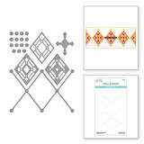 Kaleidoscope Argyle Etched Dies from the Slimline Collection