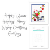 Create a Christmas Sentiment Etched Dies from the Tis the Season Collection