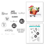 Shopping Bag Sentiments Clear Stamp Set from the Add to Cart Collection by Becky Roberts