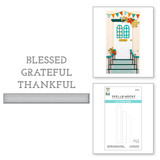 Grateful Sentiment Steps Etched Dies from the Fall Traditions Collection