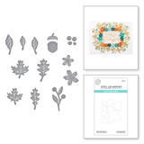 Mini Fall Blooms Etched Dies from the Fall Traditions Collection