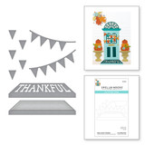 Open House Thankful Etched Dies from the Fall Traditions Collection