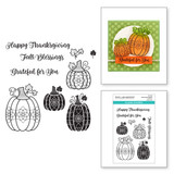 Charming Pumpkins Clear Stamp Set from the Fall Traditions Collection