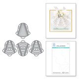 Silver Bells Dimensional Doily Etched Dies from the Holiday Medley Collection by Becca Feeken
