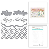 Mosaic Bracket Card Builder Etched Dies from the Holiday Medley Collection by Becca Feeken