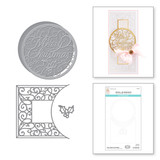 Merry Filigree Card Builder Etched Dies from the Holiday Medley Collection by Becca Feeken