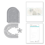 Joy Crescent Card Builder Etched Dies from the Holiday Medley Collection by Becca Feeken