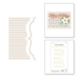 Pinstripe Bracket Card Builder Glimmer Hot Foil Plates & Dies Set from the Holiday Medley Collection by Becca Feeken