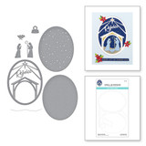 Rejoice Nativity Etched Dies from the Christmas Traditions Collection