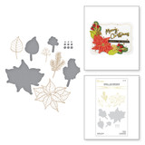 Holiday Florals Glimmer Hot Foil Plate & Die Set from the Christmas Traditions Collection