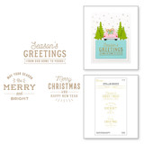 Essential Christmas Greetings Glimmer Hot Foil Plate from the Christmas Traditions Collection