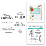 Christmas Time Sentiments Clear Stamp Set from the Christmas Traditions Collection