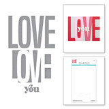 Be Bold Color Block Love You Etched Dies from the Be Bold Color Block Collection