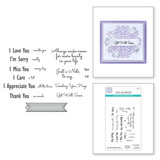 Just a Note Sentiments & Tag Clear Stamp & Die Set from Sweet Serenade Notecards Collection by Becca Feeken