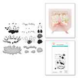 Lyrical Layered Florals Clear Stamp & Die Set from Sweet Serenade Notecards Collection by Becca Feeken