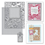 Tudor Rose Card Front Card Creator Etched Dies