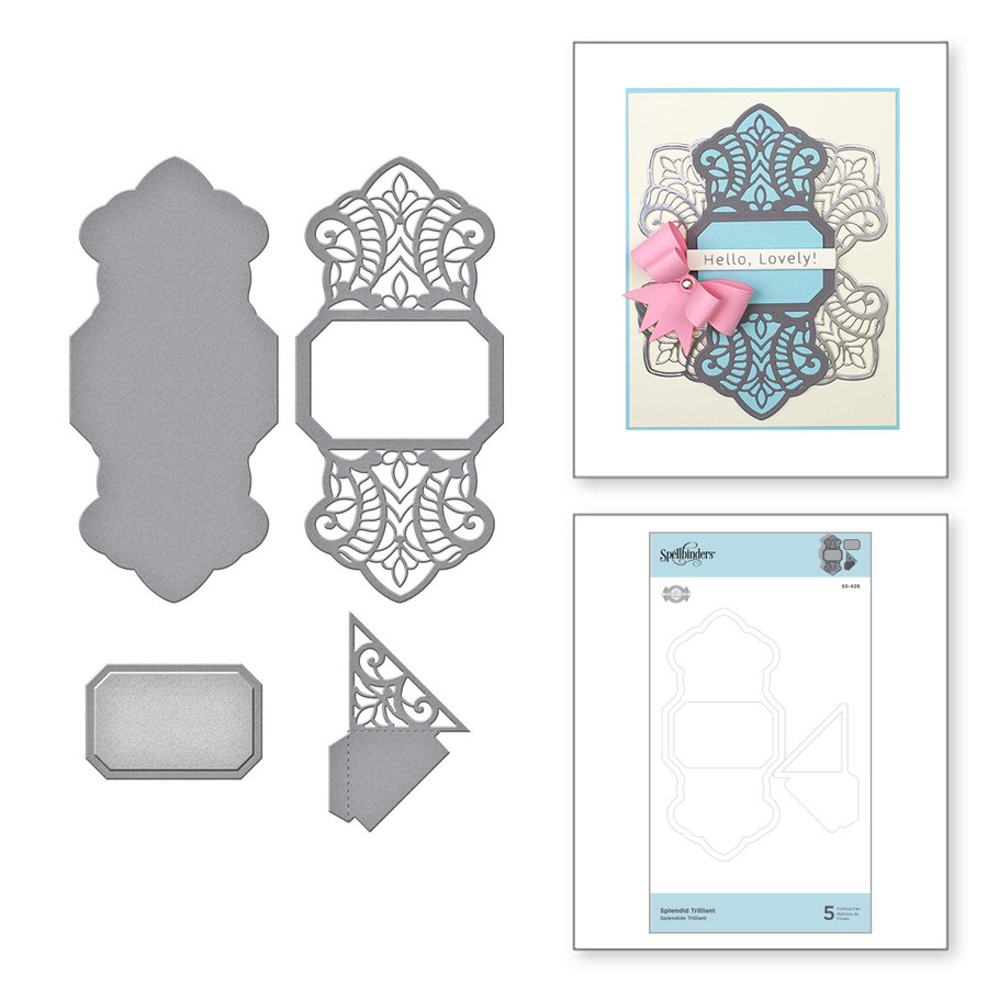 Splendid Trilliant Etched Dies Elegant Twist Collection from Amazing Paper Grace by Becca Feeken