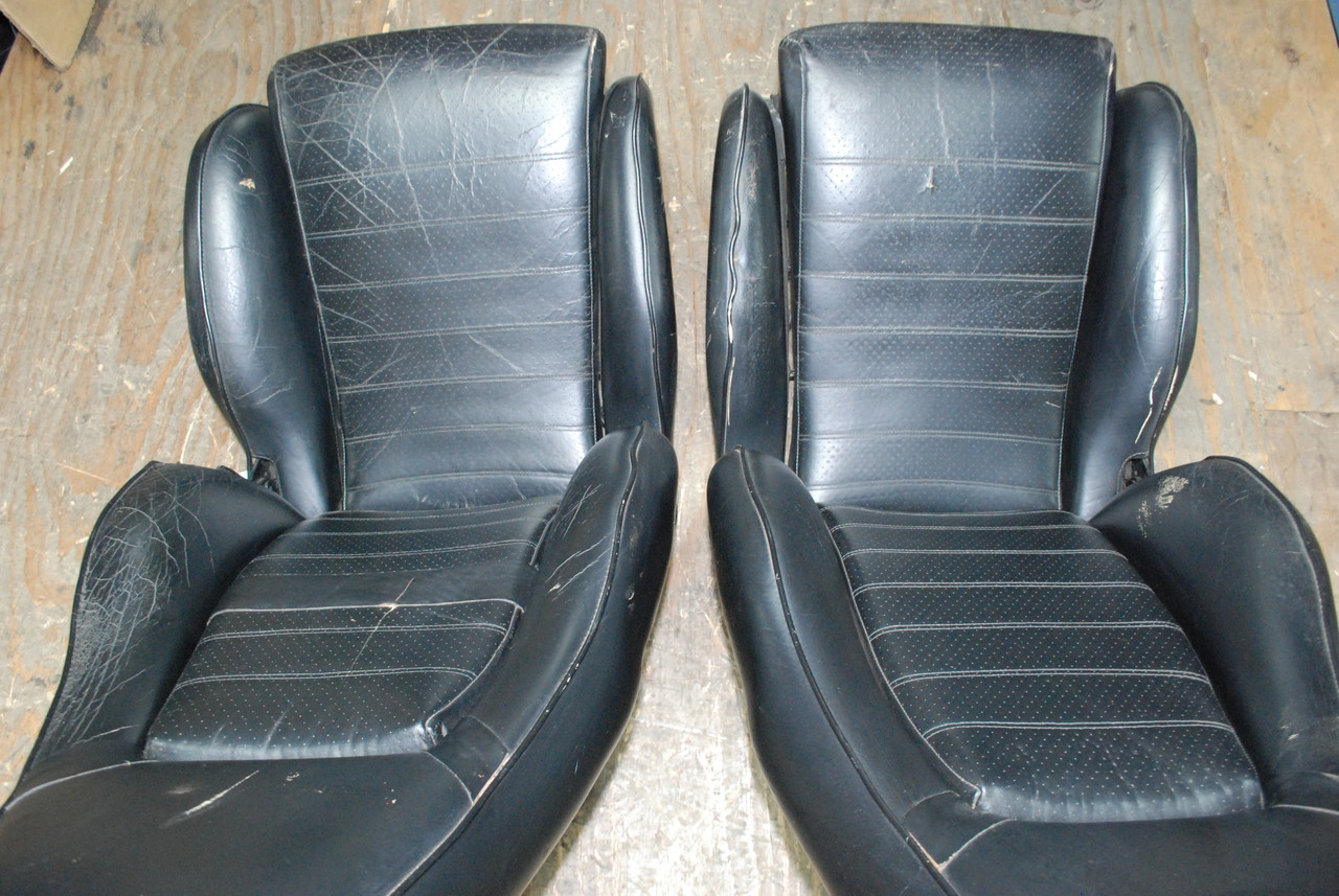 Porsche Early 911 930 Sport Seats Black Perforated Leather Factory Oem Los Angeles Dismantler Used Porsche Parts For 911 Boxster Cayman Turbo