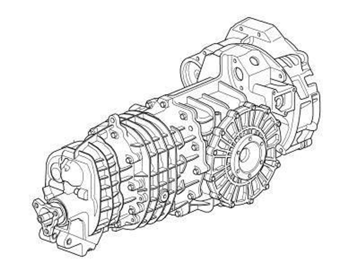 Porsche 911 997 6 Speed Twin Turbo Manual Gearbox