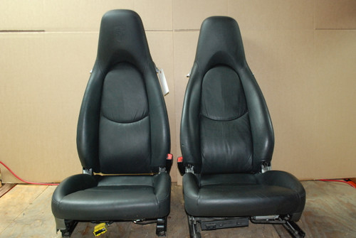 Porsche 911 997 987 Cayman S Seats 12 way power Leather OEM with CREST