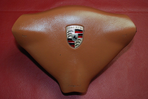 Porsche 911 996 986 Boxster Steering Wheel Airbag Brown 99680308902 P20 OEM