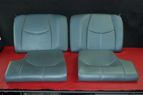 Porsche 911 997 Carrera Rear Back Seats Set Stone Gray Leatherette w/ Stitching OEM