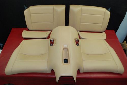 Porsche 911 991 GT3 Carrera Rear Seat 5-Pcs Set Tan Leather 2E0 Genuine OEM