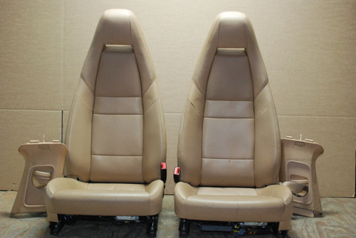 Porsche 970 Panamera Bucket Tan Sand Beige Leather Seats Pair LEFT RIGHT Factory OEM
