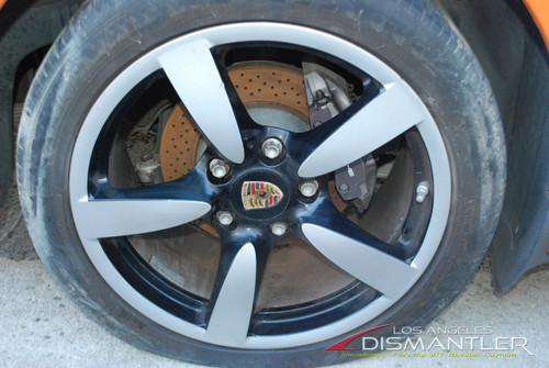 "Porsche 987 987c Boxster Cayman S One Rear Wheel 18""Rim 9xET43 Factory OEM"