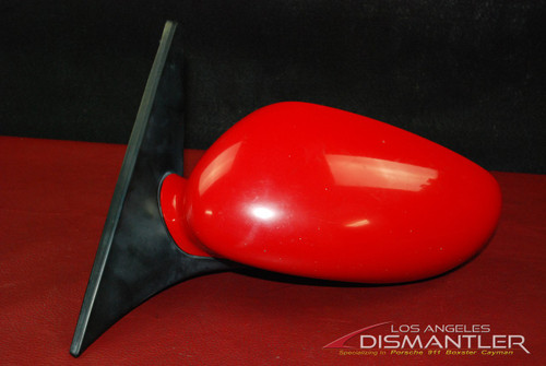 Porsche 911 996 986 Boxster Left Side Driver Mirror Red 996.731.019.04 OEM