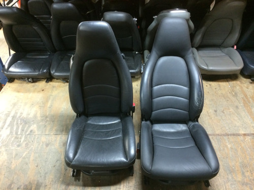 Pair 996/986 Supple Leather 8-way Porsche Seats Black