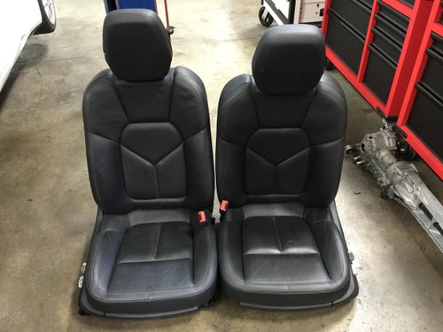 Porsche 958 Cayenne Front Driver and Passenger Black Seats Complete