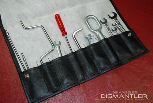 Porsche 911 964 Carrera 89-94 Tool Kit 12 pieces + Leather Tool Bag Factory OEM