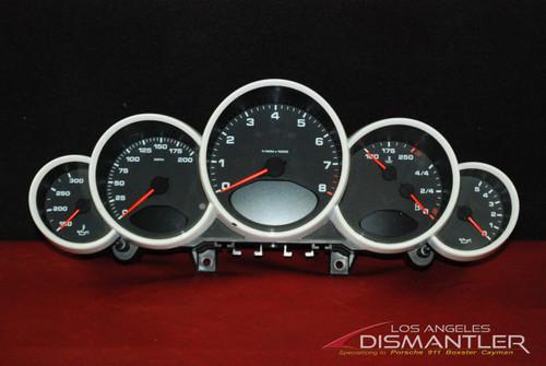 Porsche 911 997 Carrera GT3 White Speedometer Gauge Cluster 99764110312 D07 OEM