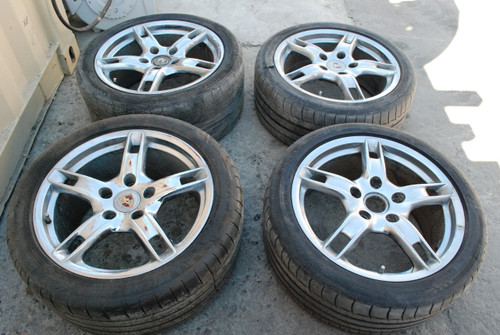 Porsche 987 Boxster Lobster Claw Wheels 9x18 ET43  8x18 ET57  98736213800  98736213600