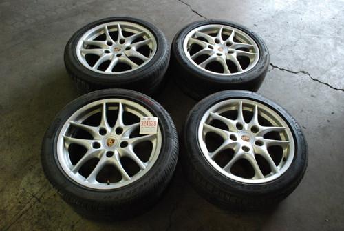 """Porsche 986 Boxster S II Wheels  8.5x17 ET48  7x17 ET55 98636212607  98636212402 17"""" Rims"""