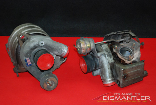 Porsche 911 996 996TT GT2 Turbo Turbochargers Pair KKK Triple K X50 Genuine OEM 99612301375 , 99612301475