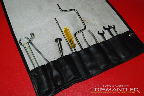 Porsche 911 964 Carrera 89-94 Tool Kit 10 pieces + Leather Tool Bag Factory OEM