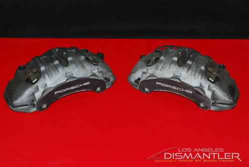 2011-2016 Porsche Cayenne 958 Front Brake Calipers Left Right 7PP615123 OEM
